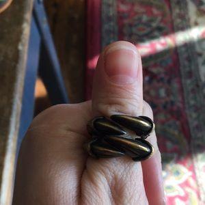 Brass claw ring